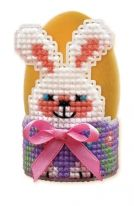 "Cross-stitch kit Riolis 1531 - ""Bunny Egg Stand"""