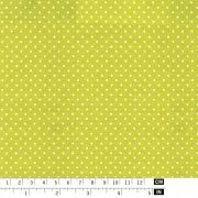 Anise fabric with 2mm white dots - Art Cotton