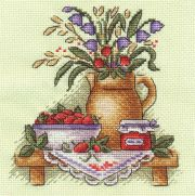 Cross-stitch kit PANNA N-0513 - Flowers in a vase