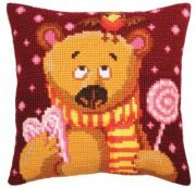 Colection D`Art cross stitch cushion 5398 The Merry Cow