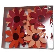 Paper flowers Basic Kraft Echinacea 21 pcs. - Brown cappuccino mix