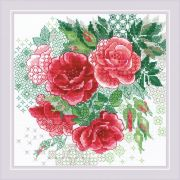 Cross-stitch kit Riolis 1916 Red Rose Hip