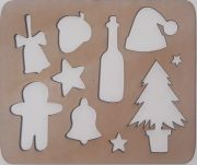 Wooden stencil Christmas