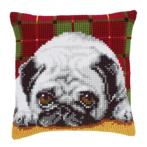 Vervaco cross stitch cushion PN-0148811 Mops dog