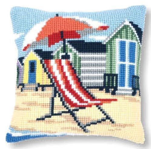 Vervaco cross stitch cushion PN-0145641 Vacation on the beach