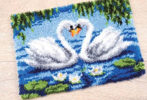 Latch hook Vervaco Swans in love