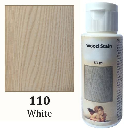 Wooden Stain Daily Art - White