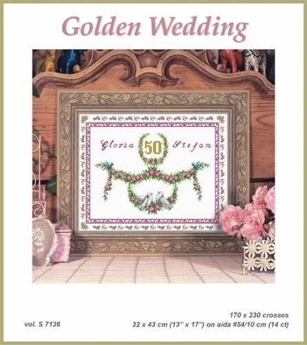 Chart for an embroidery Orchidea S-7136R Golden Wedding
