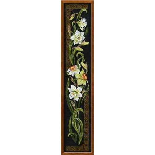 Counted cross-stitch embroidery kit Riolis 842 Daffodils