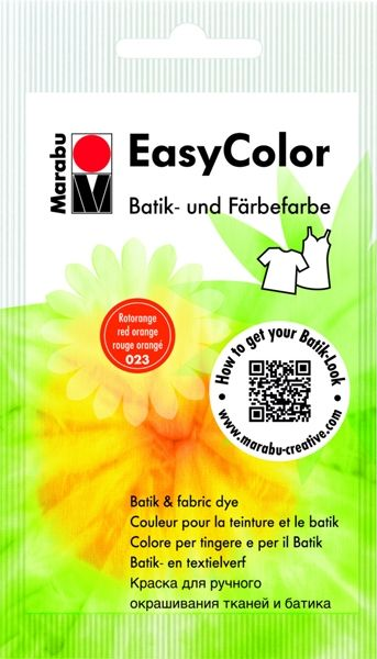 Batik textile paint Easy Color - red-orange