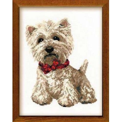 Cross-stitch kit Riolis 945  West Highland White Terrier