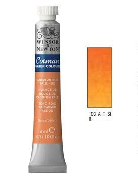 Watercolour paints Cotman cadmium red pale hue