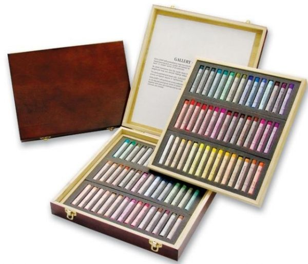 Soft pastels Mungyo in a solid wooden box - 60 colors