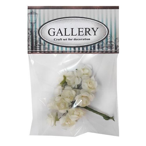 Paper flowers kit flower white