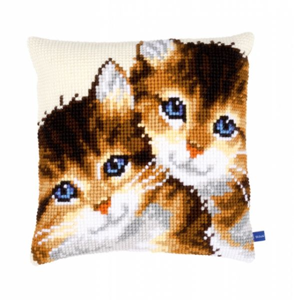 Vervaco cross stitch cushion PN-0149235 Kittens