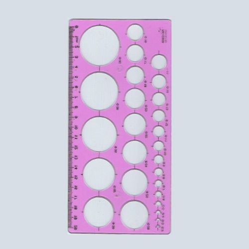 Quilling template - pink