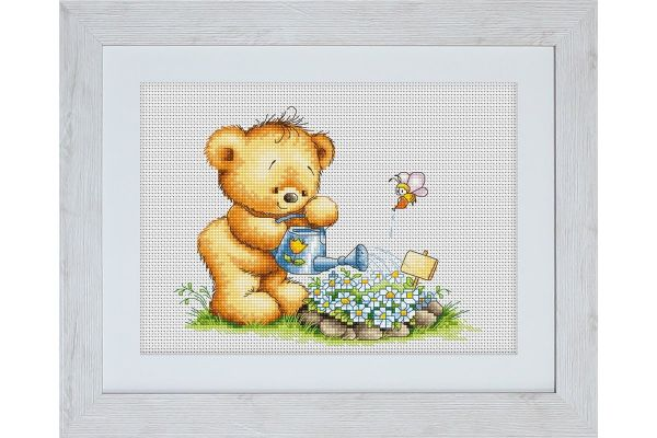 Cross-stitch kit Luca-S B1090 TEDDY BRUNO