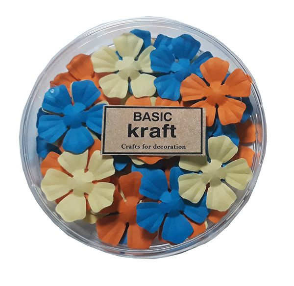 Paper flowers Basic Kraft 36 pcs. - Harmony