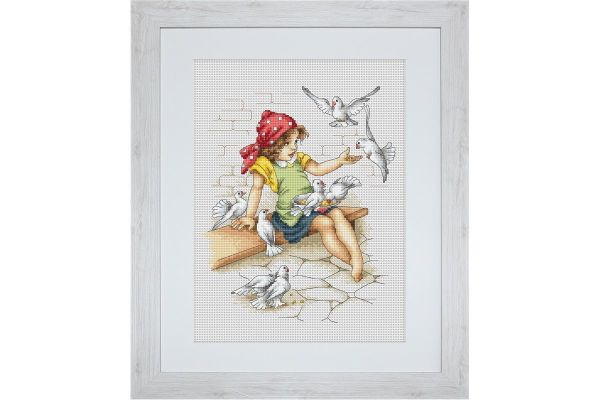 Cross-stitch kit Luca-S B010 violet