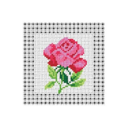 Printed embroidery Orchidea 1398 Rose