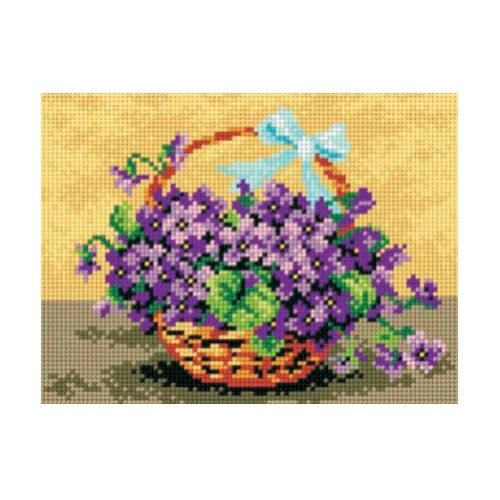Printed embroidery Orchidea 2075 Flower basket