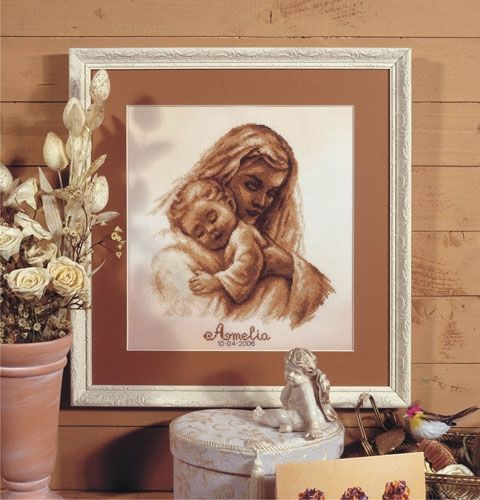 Cross-stitch kit Orchidea 8099 Mother and child
