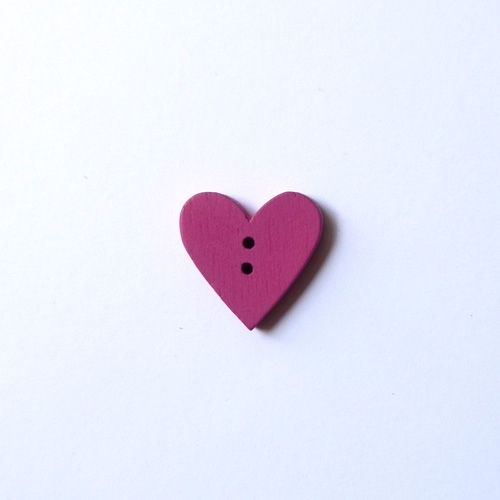 Button fucsia heart