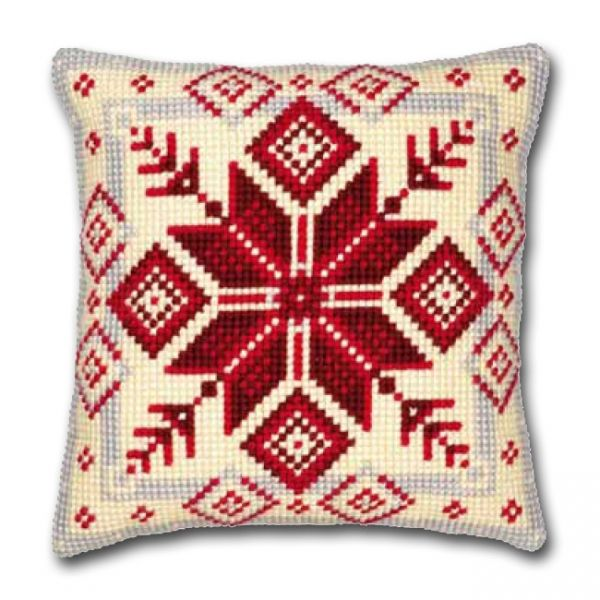 Vervaco cross stitch cushion PN-0008494 Figured design,  VERVACO