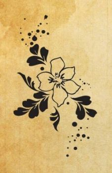 "Rubber stamp ""floral impressions"""