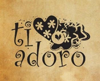 "Rubber stamp ""Ti adoro"" IT"