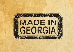 "Rubber stamp ""Made in Georgia"" EN"