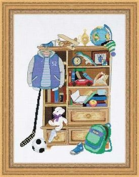"Riolis 1372 cross-stitch kit  ""Boy's Locker"""