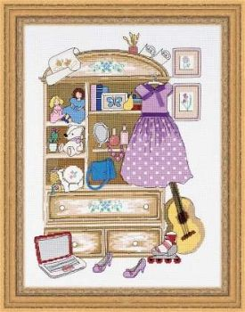 "Riolis 1373 cross-stitch kit ""Girl's Locker"""