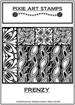 Rubber embossing stamp - Frenzy