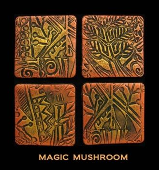 Rubber embossing stamp - Magic Mushroom