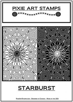 Rubber embossing stamp - Starburst