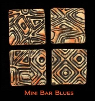 Rubber embossing stamp - mini Bar Blues