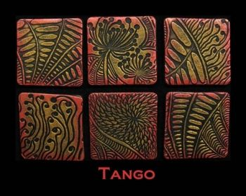 Rubber embossing stamp - Tango