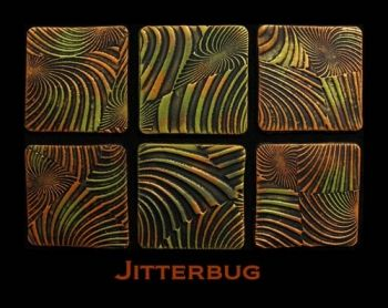 Rubber embossing stamp - Jitterbug