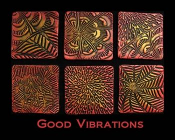 Rubber embossing stamp - Good Vibrations
