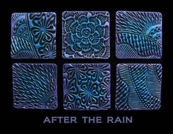Rubber embossing stamp - After the Rain
