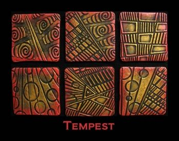 Rubber embossing stamp - Tempest