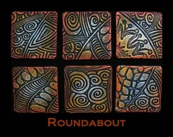 Rubber embossing stamp - Roundabout