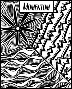 Rubber embossing stamp - Momentum