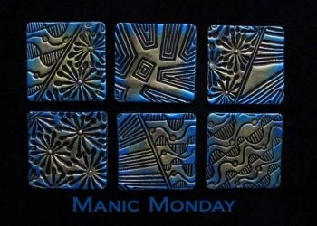 Rubber embossing stamp - Manic Monday