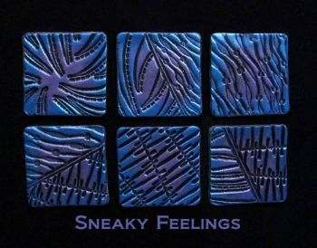 Rubber embossing stamp - Sneaky Feelings