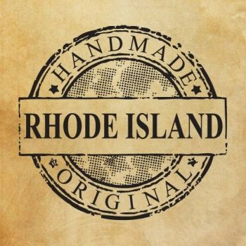 "Rubber stamp ""Handmade in Rhode Island - original"" EN"