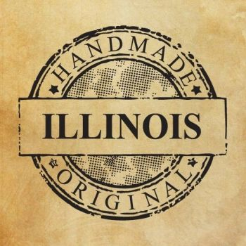 "Rubber stamp ""Handmade in Illinois - original"" EN"