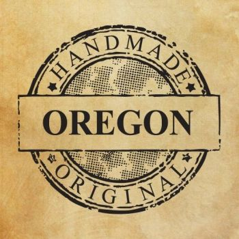 "Ștampilă ""Handmade in Oregon - original"" EN"