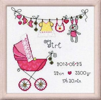 "Cross-stitch kit Riolis 1417 ""It's a Girl!"""